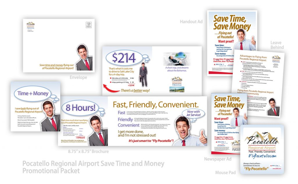 Pocatello Regional Airport Save Time and Money Promotional Packet