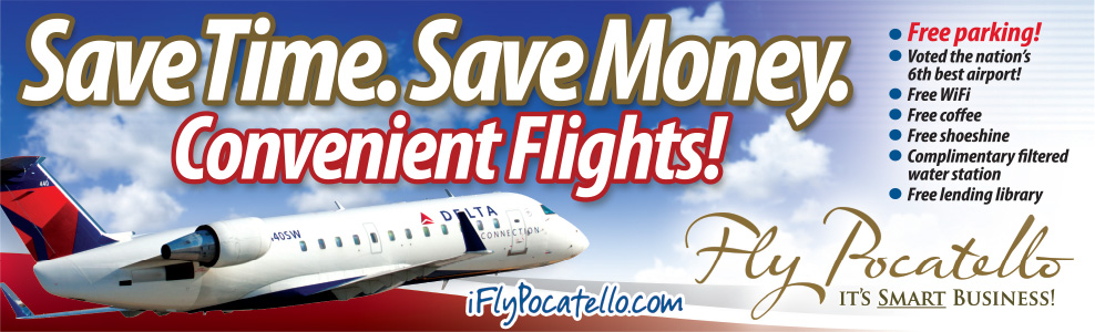 Pocatello Regional Airport- Save Time. Save Money. Lowrider Ad