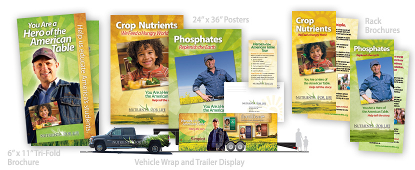 Simplot Nutrients for Life Exhibit and Supporting Collateral